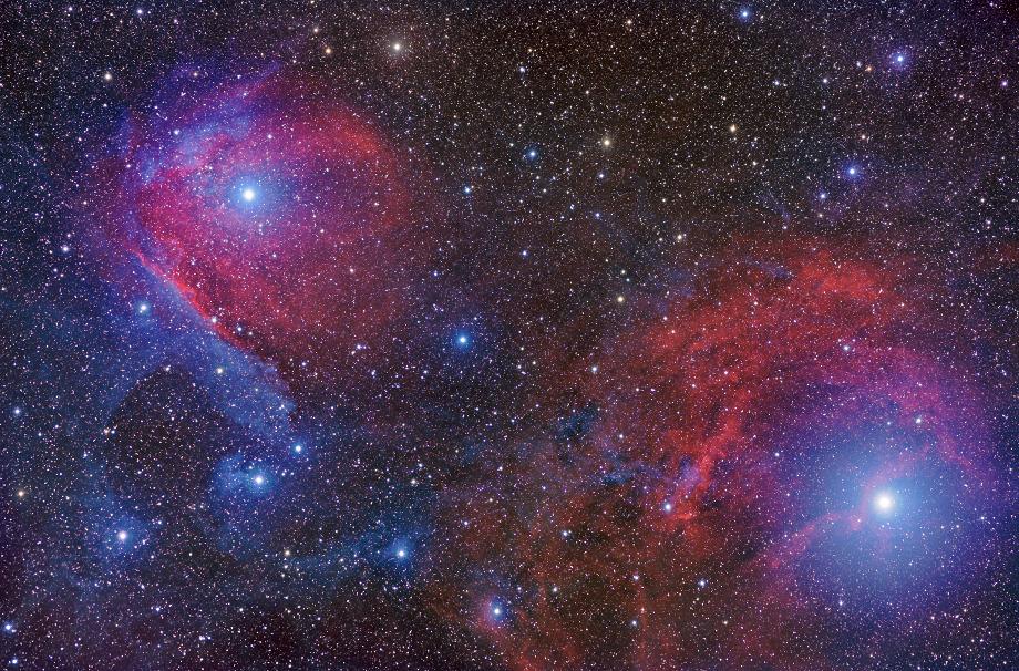 Scorpio Dalam Warna Merah Dan Biru