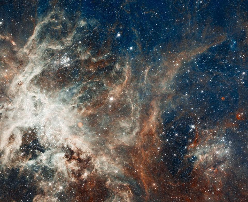 Pembentukan bintang di Nebula Tarantula