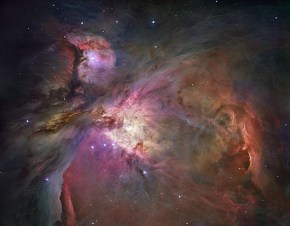 Nebula Orion : Pandangan Dari Hubble