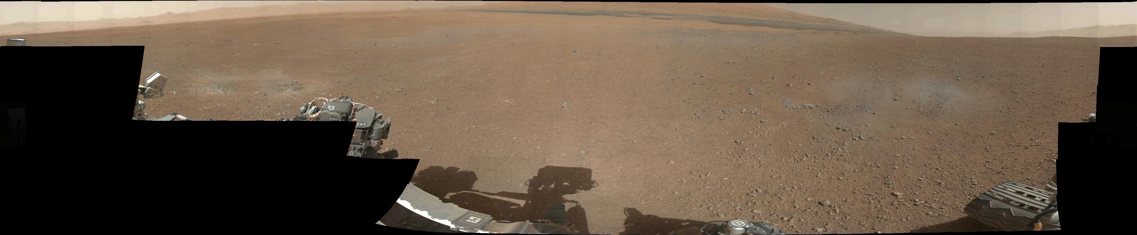 Panorama Warna Pertama dari Mars oleh Curiosity