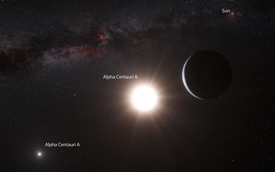 Sebuah Pandangan Dari Tata Surya Sebelah