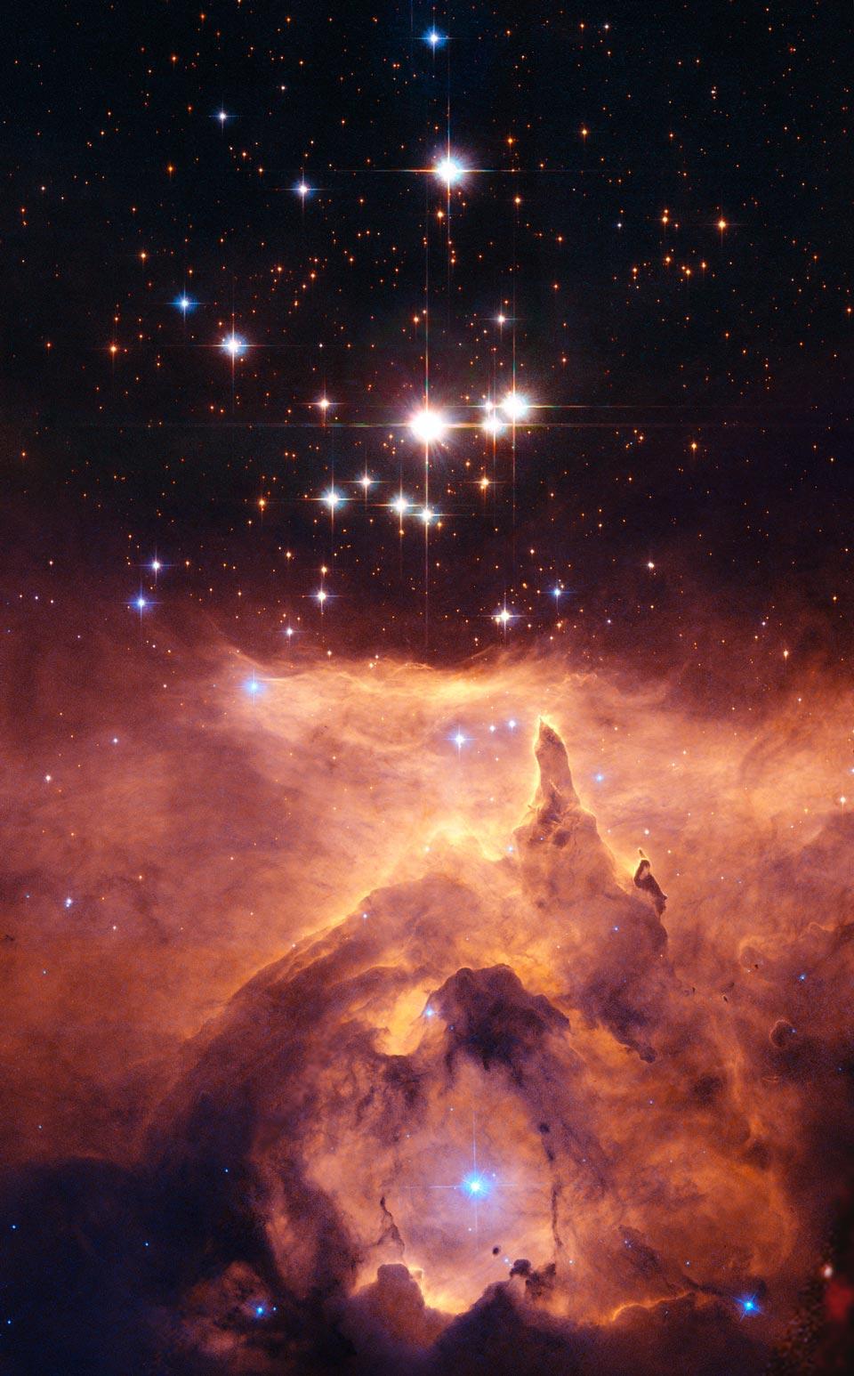 NGC 6357 Katedral ke Stars besar-besaran