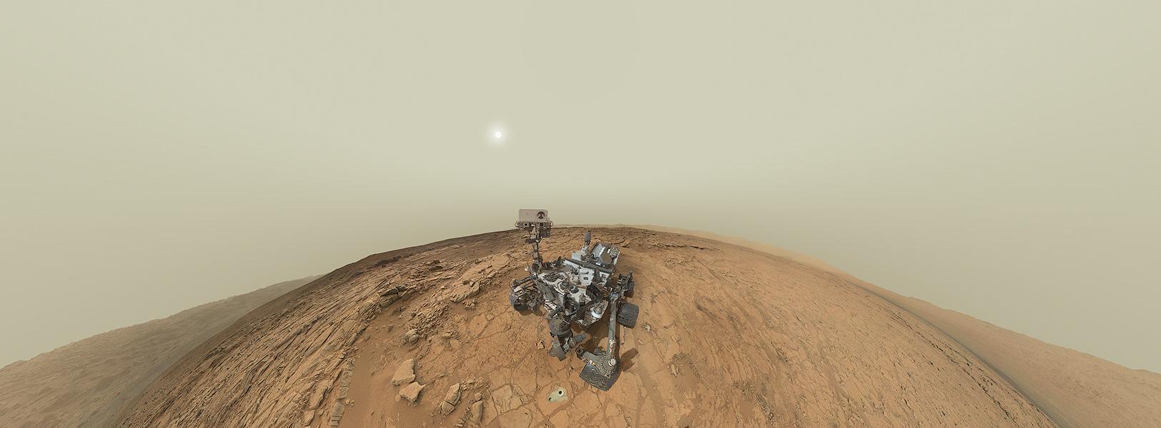 Panorama Potret Diri Curiosity