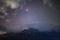 A brilliant yellowish celestial beacon, Mars still