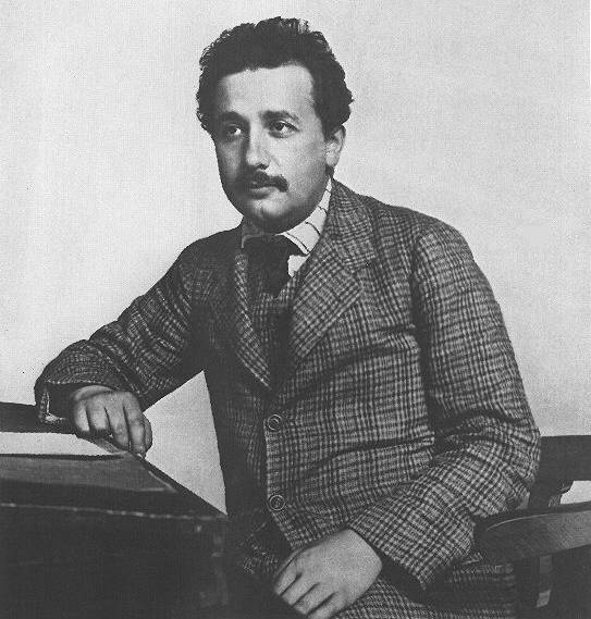 Albert Einstein describe el espacio y el tiempo