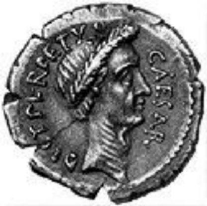 Moneda romana con Julio C�sar