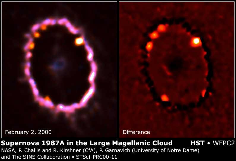 APOD: 2000 February 17 - New Shocks For Supernova 1987A