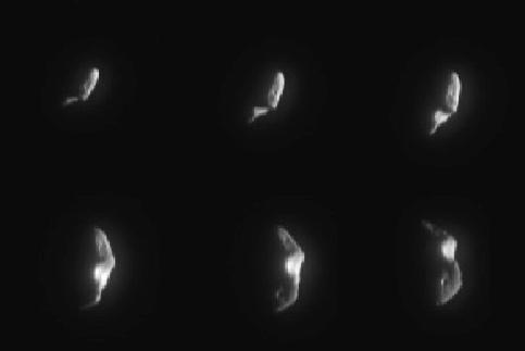 La nave NEAR cerca del asteroide Eros