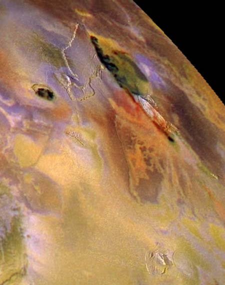 Zal Patera en la luna jupiteriana de Io