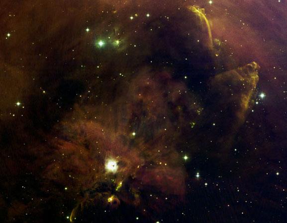 Panorama de rarezas en Orion A