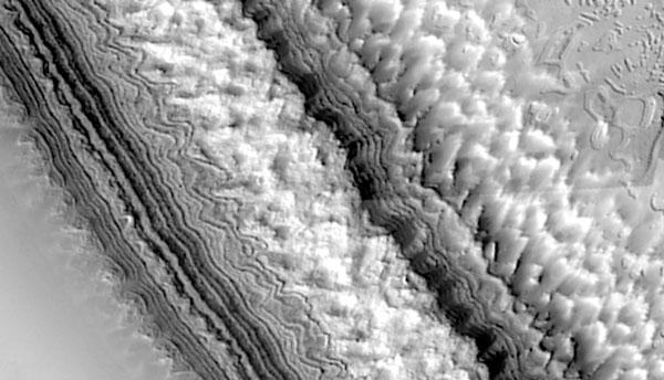 Capas del Casquete Polar del Sur de Marte