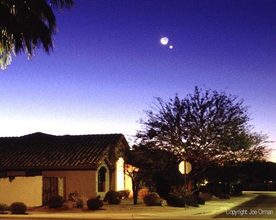 Venus, la Luna y los vecinos.