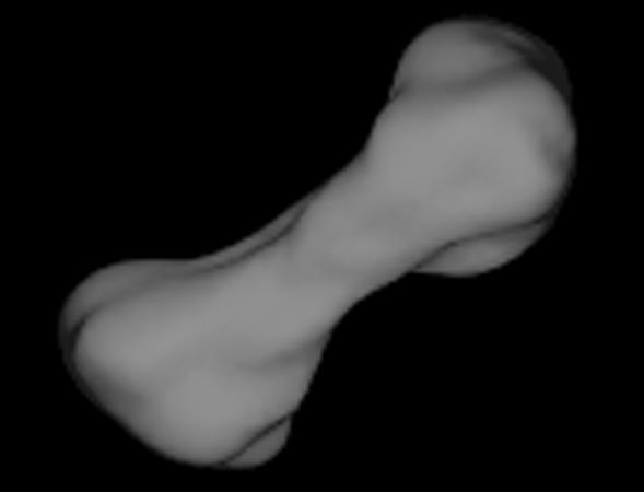 El asteroide 216 Kleopatra tiene forma de hueso