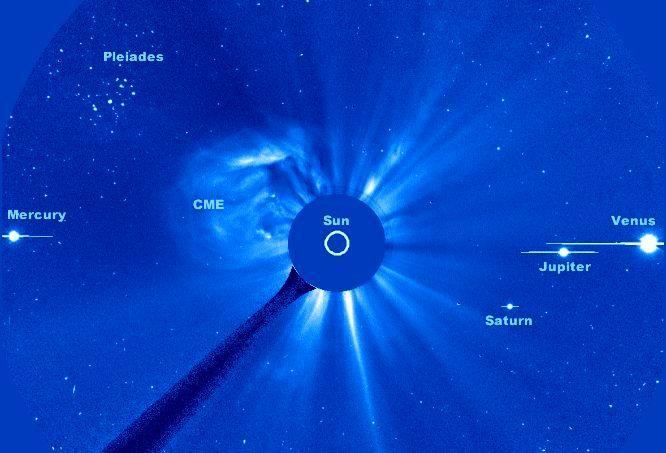Pléyades, Planetas y Plasma Caliente