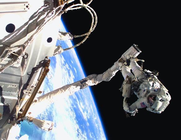 Astronauta en el trabajo