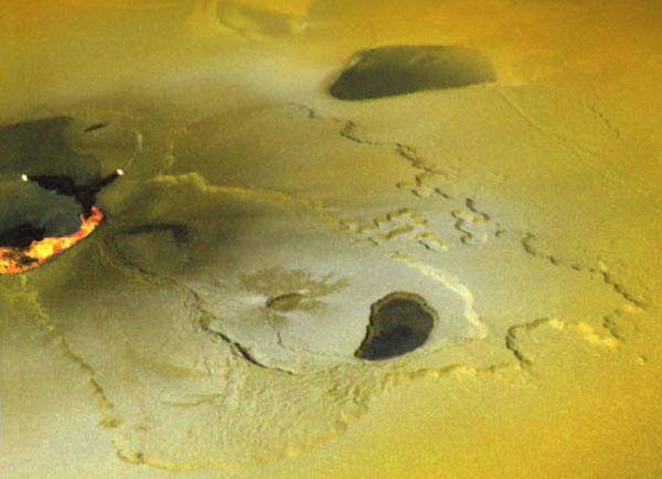 Una erupción contínua en la luna de Júpiter Io