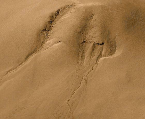 Las Hondonadas en Marte