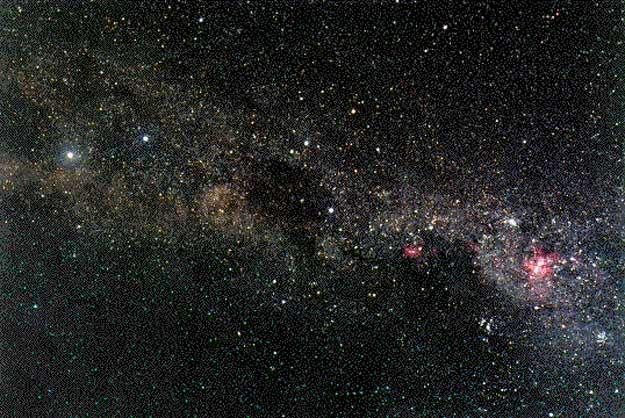 La Vía Láctea Próximo a la Cruz del Sur