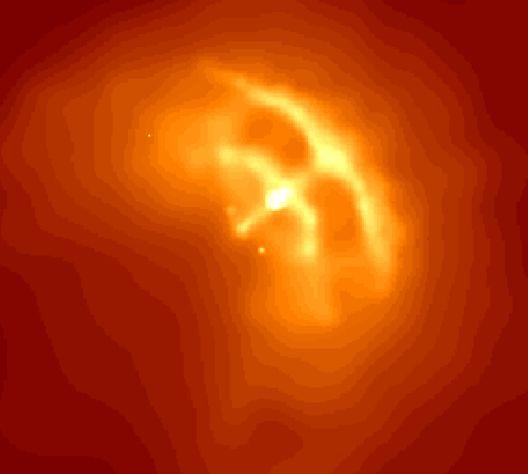 Pulsar en Vela: chorro y anillo en una estrella neutrónica