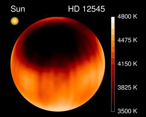 Una mancha gigante en la estrella HD 12545