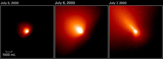 El cometa LINEAR se despedaza