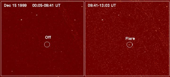 LP 944-20 fracaso de una estrella Bengalas