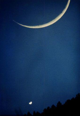 Lua e Vênus Compartilhar o céu
