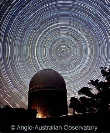 Stopy hvězd na jižní obloze