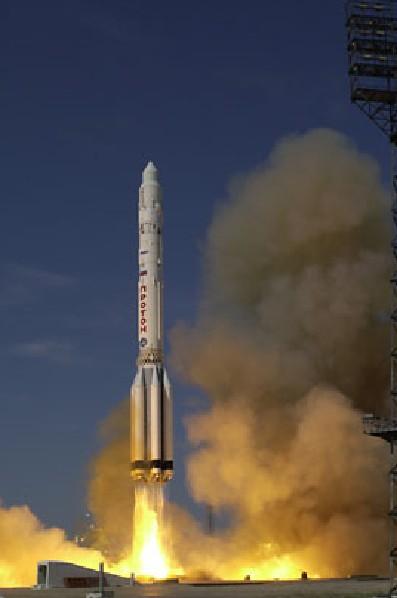 Un Cohete Ruso Protón Lanza Zviezda