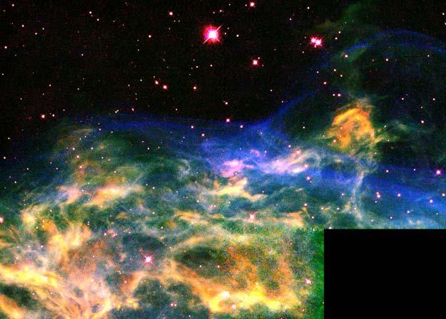 En el borde de la Nebulosa de la Media Luna