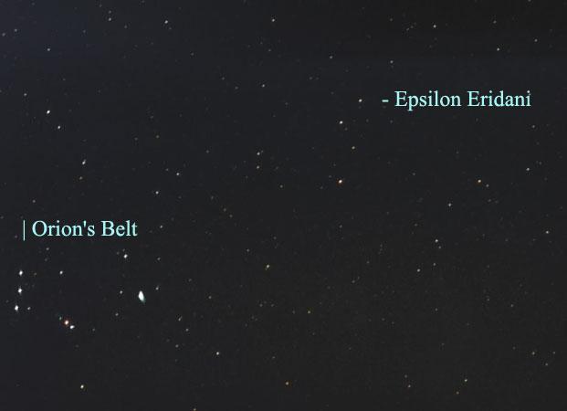 Cercanos Estrella Epsilon Eridani ha puesto en marcha un Planeta