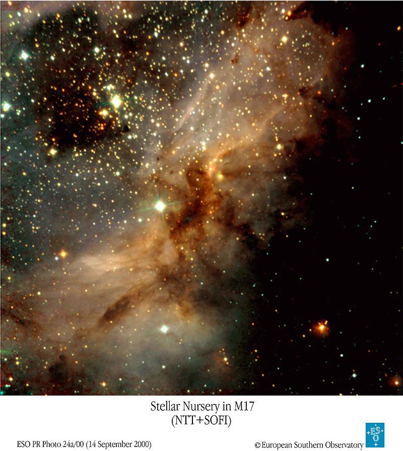 APOD: 2000 September 19 - M17: Omega Nebula Star Factory