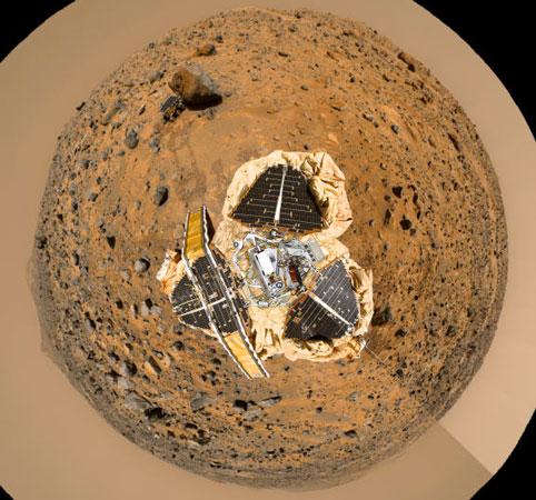 Ligeramente Encima del Mars Pathfinder