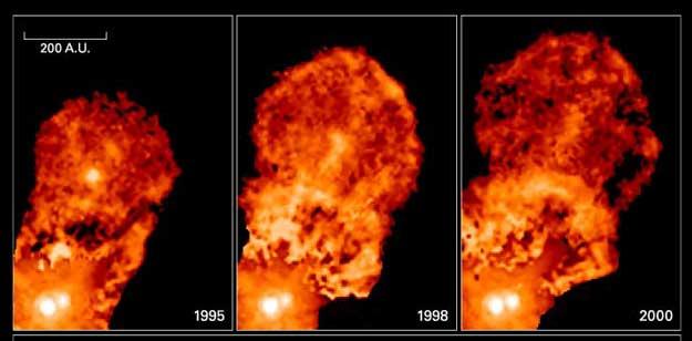El Sistema Tauro XZ Arroja una Burbuja de Gas