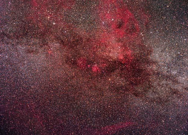 Restos de una supernova en la nebulosa de la goma