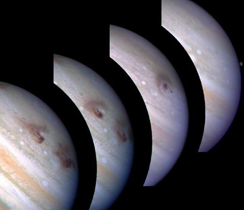 Júpiter engulle el cometa Shoemaker Levy 9