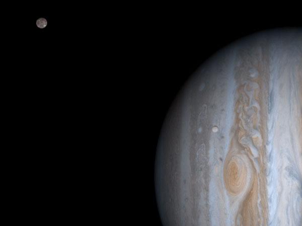 Júpiter, Europa y Calisto