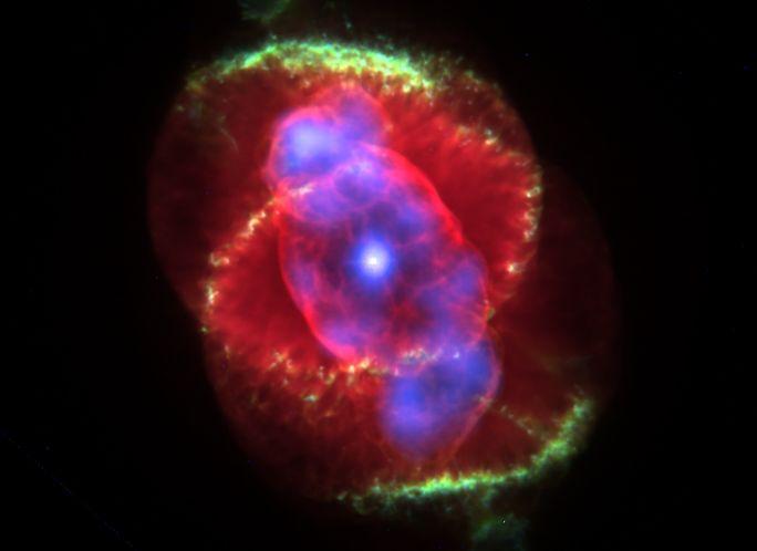 Rayos X en la Nebulosa del Ojo de Gato