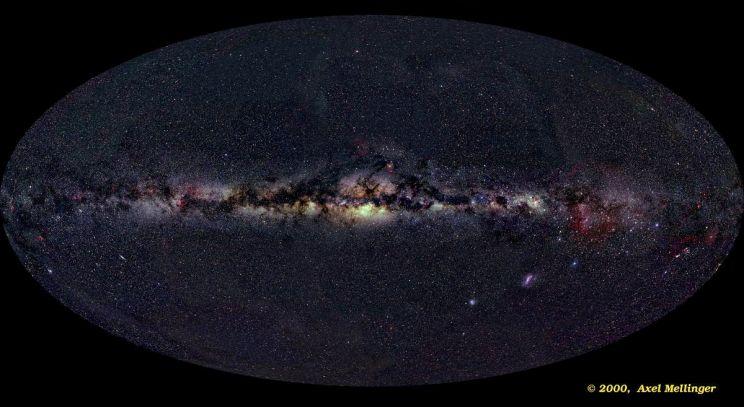 El Panorama del todo el Cielo