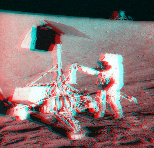 Vista en Estéreo del Apollo / Surveyor