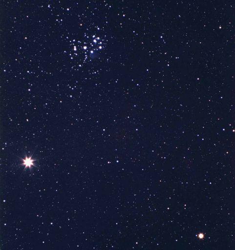 Júpiter, Saturno y M45