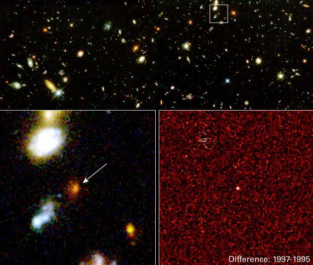 Supernova lejana, energía oscura