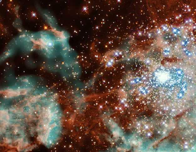Explota el cúmulo estelar R136