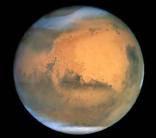 Marte desde la Tierra