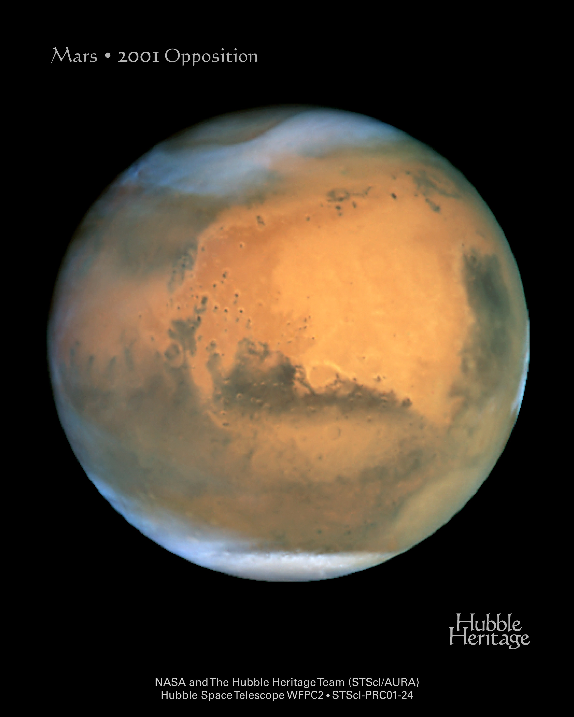 APOD: 2001 July 18 - Mars from Earth