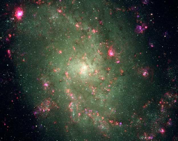 Složky blízké spirály M33