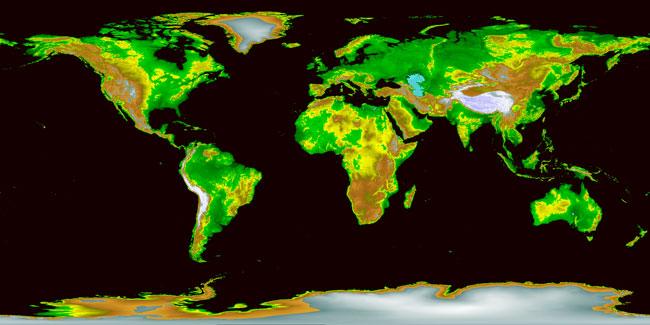 Los alturas y bajuras de la Tierra