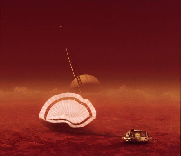 Un retrato de Saturno desde Titán