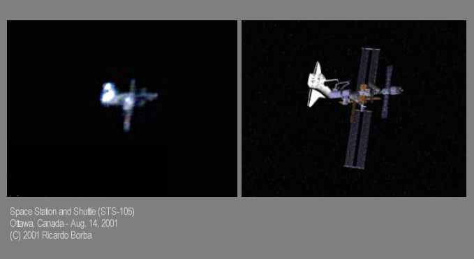 APOD: 2001 October 12 - Space Station and Space Shuttle ...