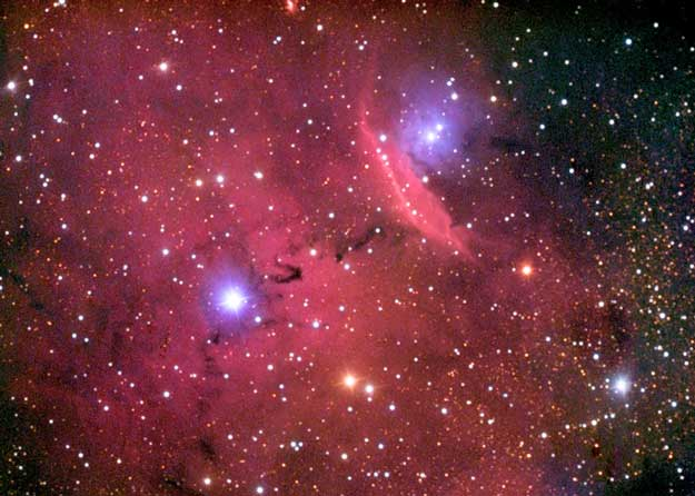 Emisión y reflexión en NGC 6559